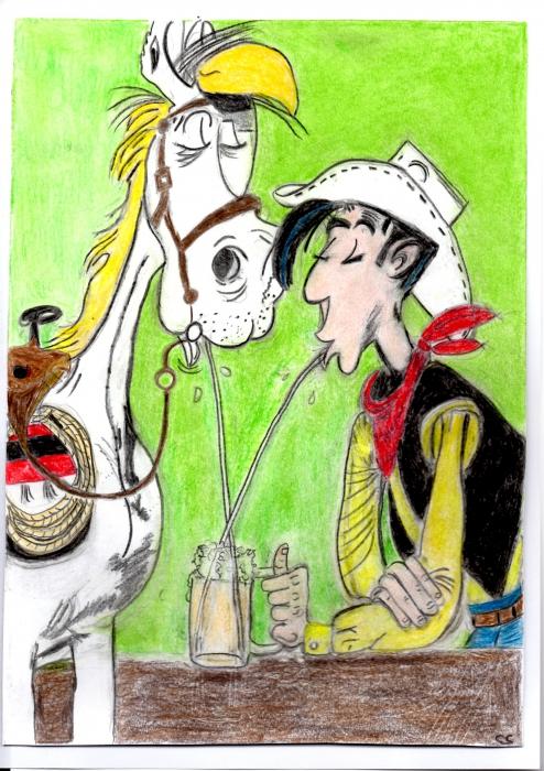 Lucky Luke por jesebelle